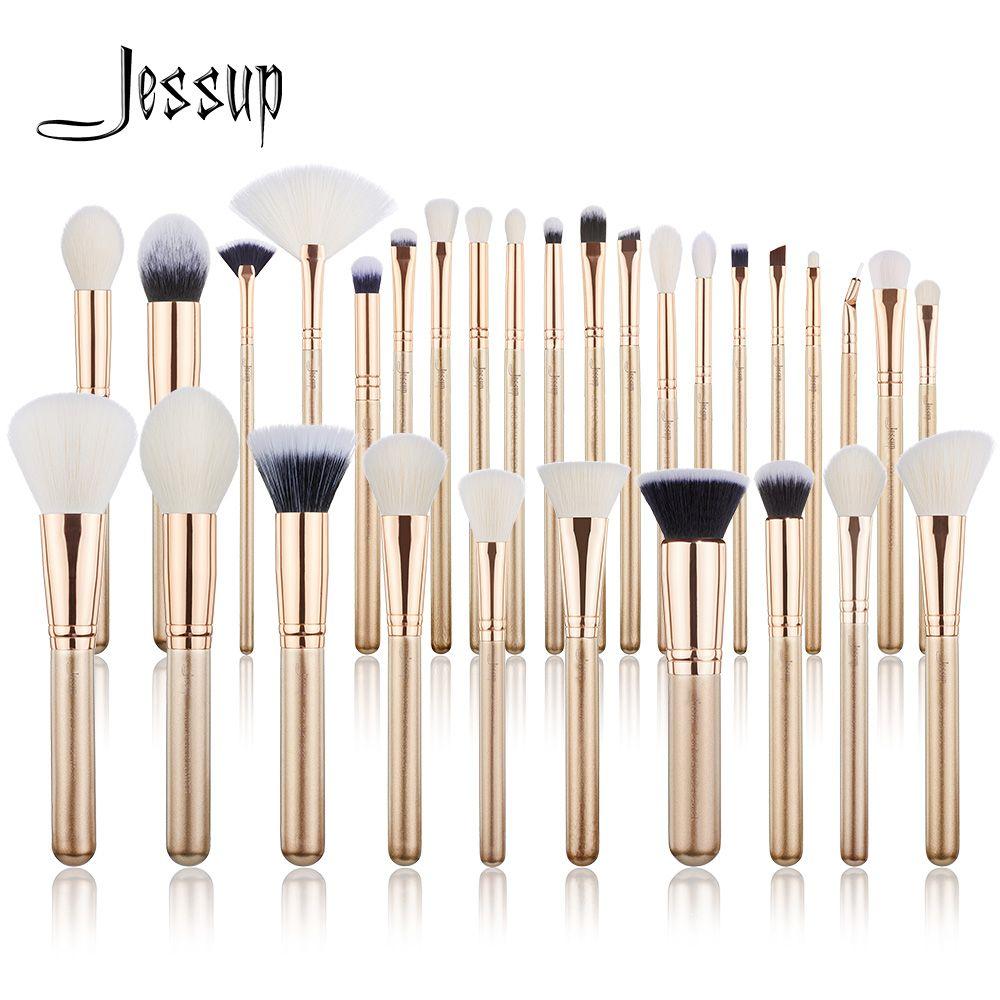 Ensemble de pinceaux de maquillage Jessup 6 pièces-30 pièces fond de teint poudre or/Rose fard à paupières CONCERLER pinceau de maquillage