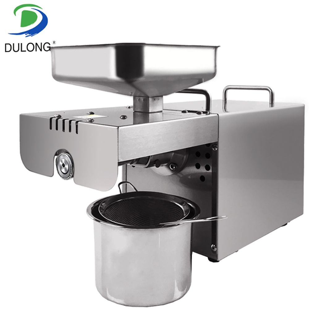 Stainless steel Automatic Small Seed oil extractor machine, Cold oil pressed expeller, Peanut oil press machine for home