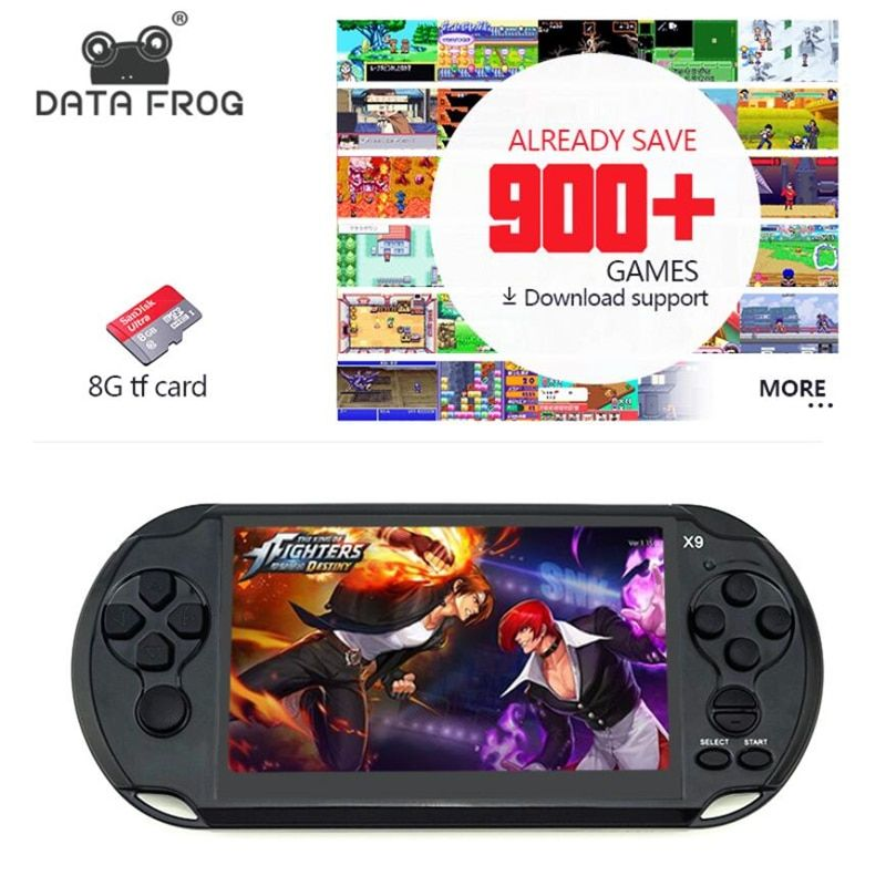 Data Frog <font><b>Handheld</b></font> Game For GBA Portable Games Consoles Built-in 3000 Classic Games MP5 Child Game Console With 5.0 Screen 8GB
