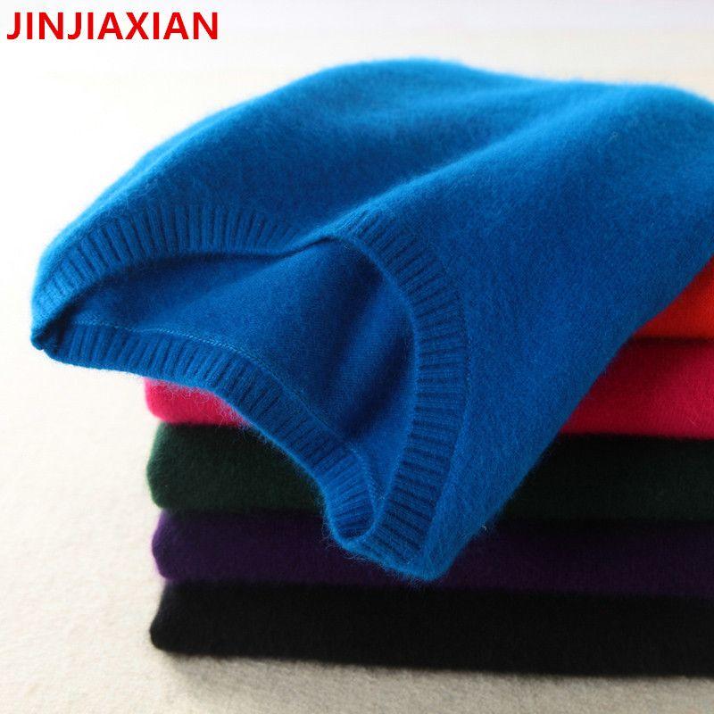 Haute qualité pull en cachemire femmes pull top en tricot pull hiver solide automne femme femmes surdimensionné pull