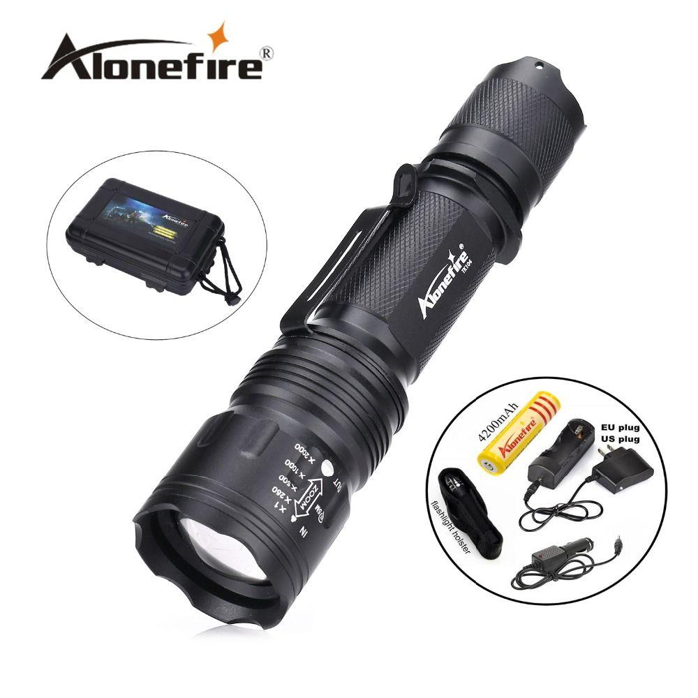 TK104 CREE XM L2 LED 2200LM Zoomable Waterproof rechargeable portable Tactical Gun Flashlight Pistol Handgun Torch light Lamp