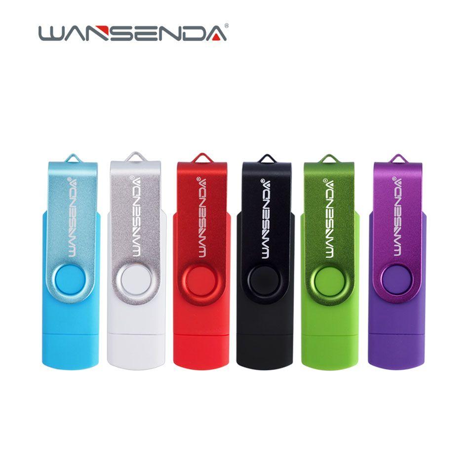 Original Wansenda S100 OTG USB Flash Drive 128GB 64GB 32GB 16GB 8GB 4GB Pen Drive USB 2.0 pendrive for Android/PC with package