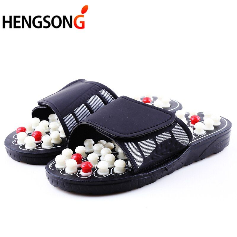 Acupoint Massage pantoufles pour hommes femmes sandales pieds chinois acupression thérapie médical rotatif pied masseur chaussures unisexe