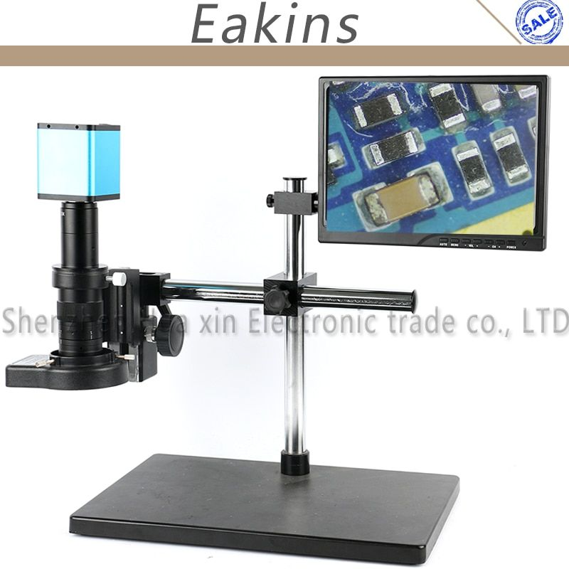 Adjustable Boom Table Stand 1080P SONY SENSOR IXM290 Auto Focus HDMI Industry Video Microscope Camera Work System For PCB Repair