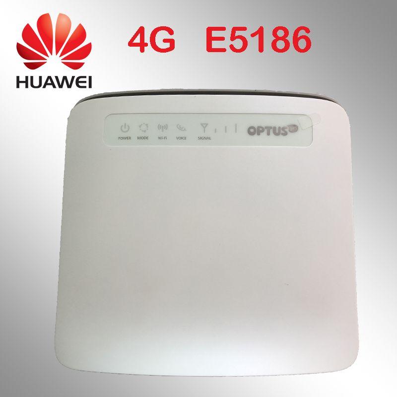 Débloqué 4g routeur huawei E5186 E5186s-22a 4g 300 Mbps LTE sans fil 12 v routeur 4g wifi dongle Cat6 hotspot Mobile cpe voiture routeur