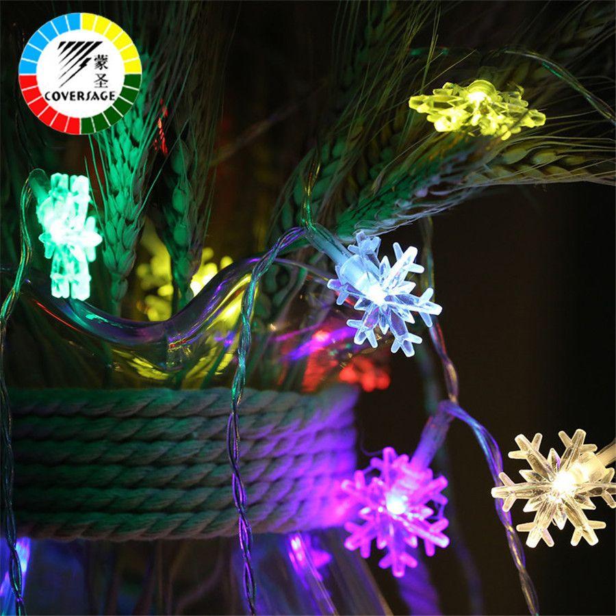 Coversage 10 M 100 Leds flocon de neige fée chaîne guirlande noël arbre rideau extérieur décoratif rideau lumières Led Navidad