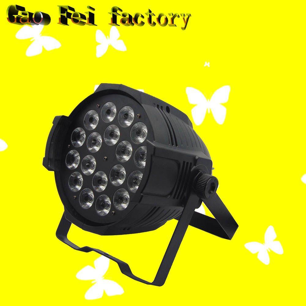 1pcs/lot Aluminum 18x12W RGBW 4in1 LED Par Can 64 led spotlight dj projector wash