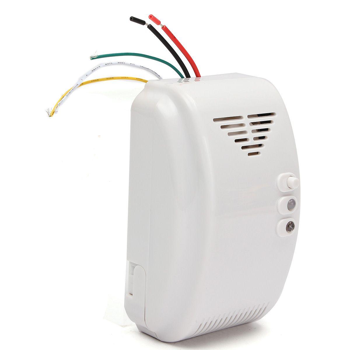 NUEVA 12 V Sensor Detector de Alarma De Gas Propano Butano LPG Naturales Autocaravana Para Sistema de Alarma de Seguridad