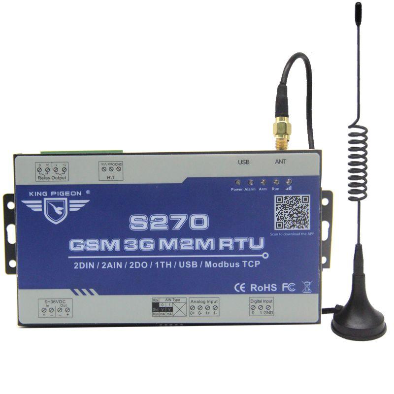 Système d'alarme de surveillance à distance sans fil Modbus M2M RTU pour le contrôle de relais d'accès BTS S270
