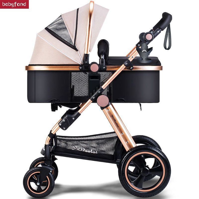 USA free shipping !Baby Stroller High Landscape Can Sit And Lie trolley high quality Folding Baby Cart Children's pram