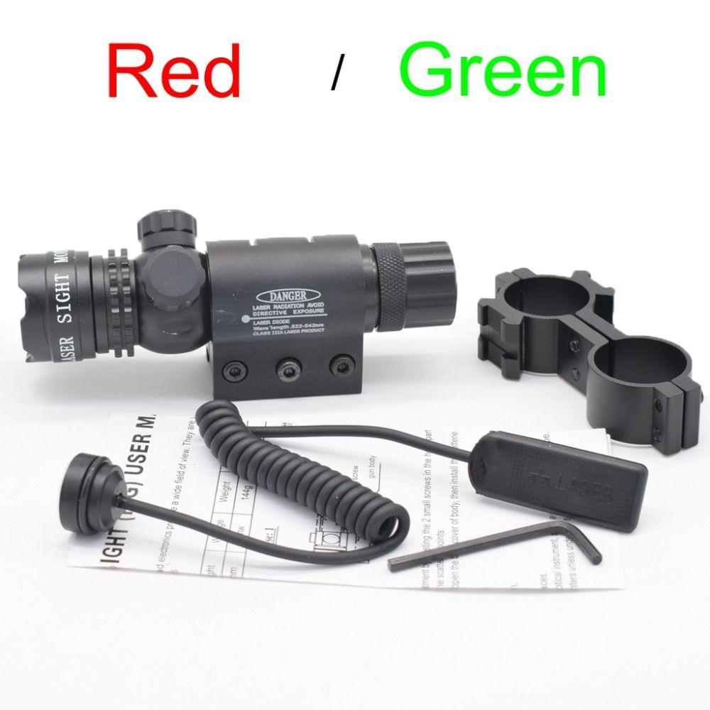 Tactique 5 mw Rouge Visée Laser Fusil Portée de Tir Désignateur 20mm Montage Queue Interrupteur Pour La Chasse