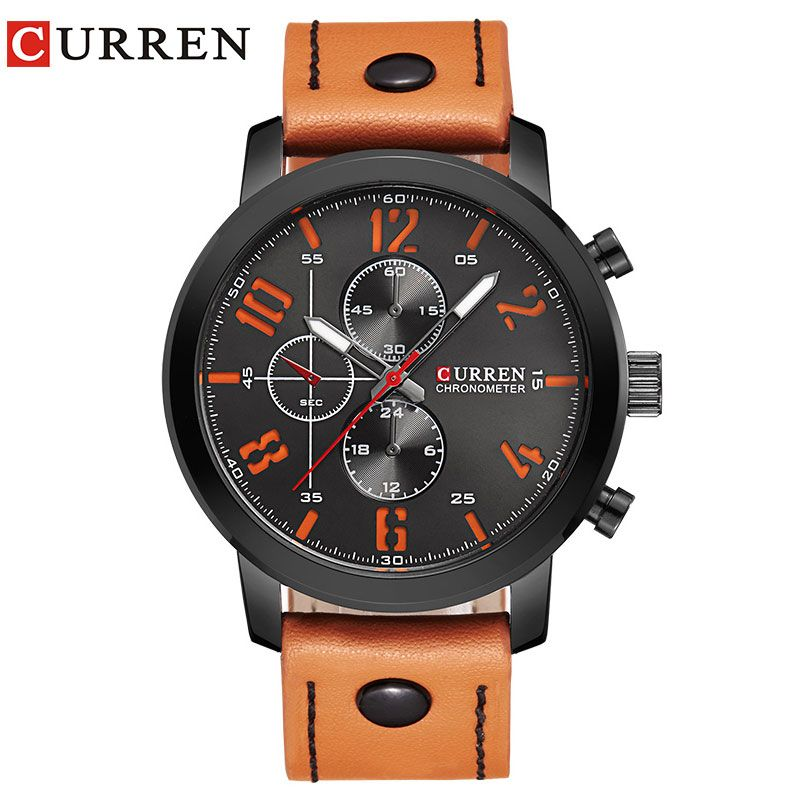 CURREN Luxury Casual Men Watches <font><b>Analog</b></font> Military Sports Watch Quartz Male Wristwatches Relogio Masculino Montre Homme 8192