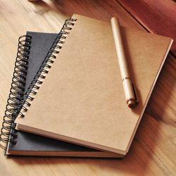 Vintage Papier Kraft Portable Sketchbook Mensuel Planner Cahier de Journal Intime Peinture Composition Livre Fournitures Scolaires Papeterie