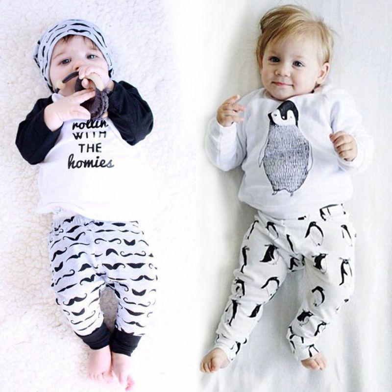 Lzh/Одежда для новорожденных осень 2017 г. Зимняя одежда для маленьких мальчиков Наборы для ухода за кожей футболка Брюки, 2 предмета Детские на...
