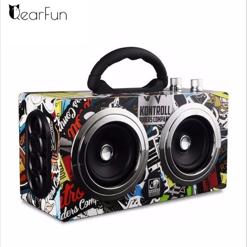 Portable Bluetooth Speaker Wireless Outdoor Stereo Bass Sound HiFi Loudspeaker 20W High Power Big Speaker with TF Card FM radio