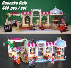 Baru Heartlake Seri Cupcake Cafe Cocok Legoings Teman Angka Kota Blok Bangunan Model Batu Bata Girls DIY Mainan 41119 Hadiah Anak-anak