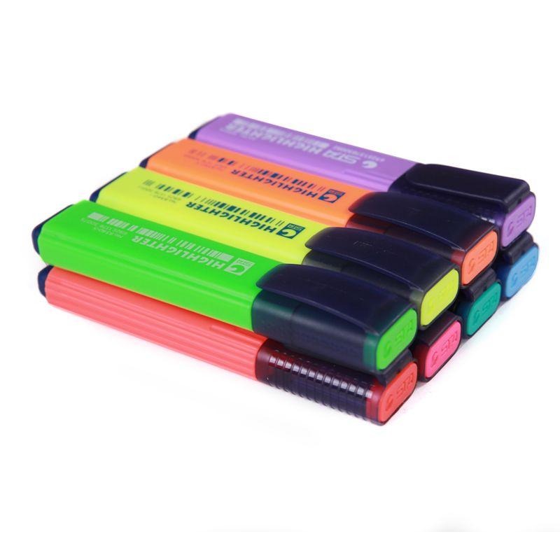 Highlighter plumas del color 8 colores Marker pen Art supplies 8 unids/set productos de papelería oficina suministros de escuela regalo