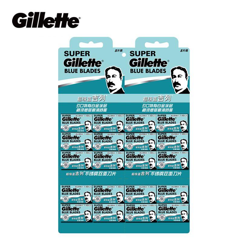Gillette Super Blue Razor Blade For Men Beard Shaving Shaver Razor Blades Stainless Steel Double Edge Safety 100pcs