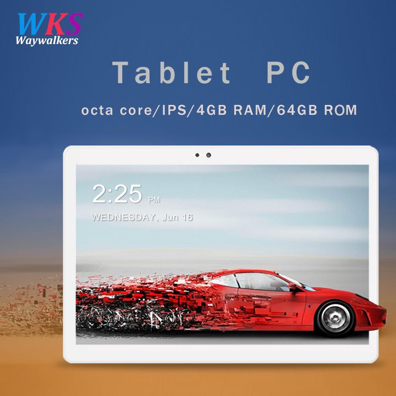 Free shipping 10.1 inch tablet pc Android 7.0 RAM 4GB ROM 32/64GB Dual SIM Bluetooth WiFi <font><b>1920</b></font>*1200 IPS Smart tablets pc 10 10.1
