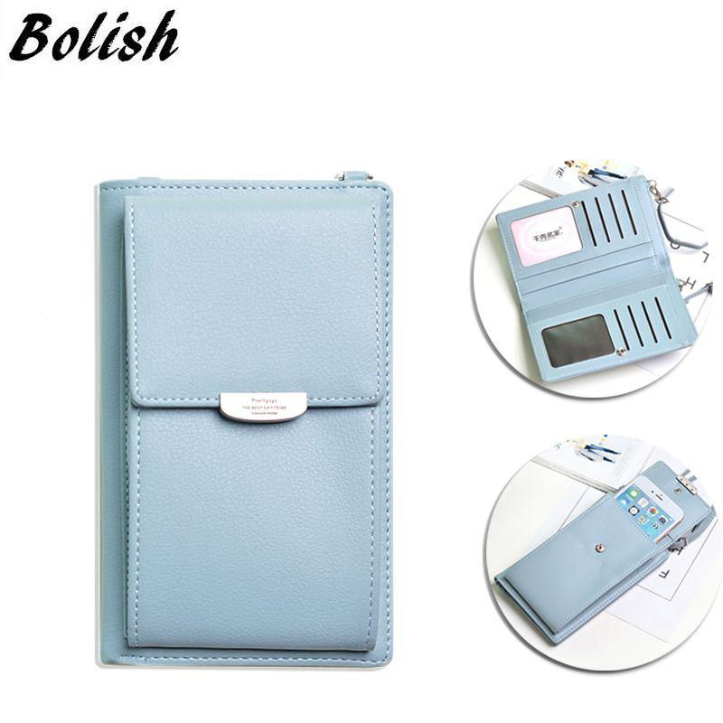 Multifonctionnel femme portefeuille coque de téléphone all-match Portable petit changement paquet sac à main