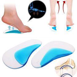 1 пара профессиональная ортопедическая стелька-ступинатор стелька для обуви плоская ножка силиконовый корректор подушка для обуви вставка...