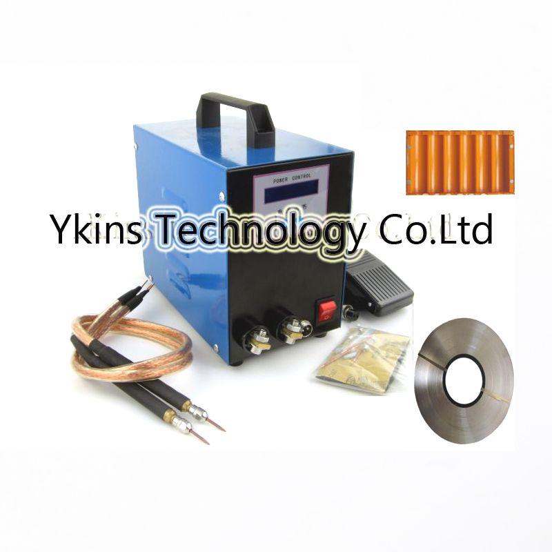 110V 220V LCD display 18650 battery spot welder machine Pedal control Pen type Handheld welding machine+1kg nikel+battery case