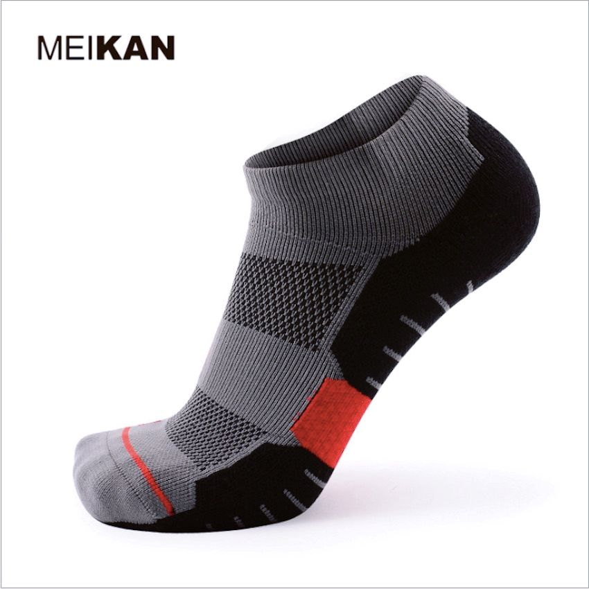 1 Pair Coolmax Quick Dry Mens Sock Slippers (Eu 39 to 44) Thick Comfortable (US 7 to 10) Professional Ergonomically Ankle Socks