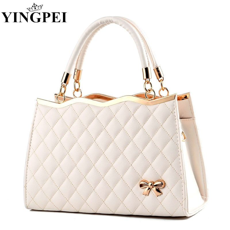 Women Messenger Bags Ladies Tote <font><b>Small</b></font> shoulder bag woman brand leather handbag fashion bag with scarf lock designer bolsas