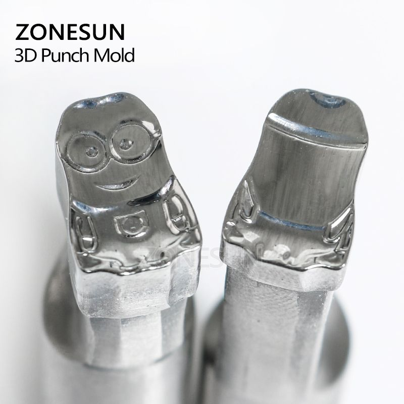ZONESUN Cartoon character punching die mold sugar pill Punching Set Stamp tablet die for pills candy press equipment TDP 0/1.5/3