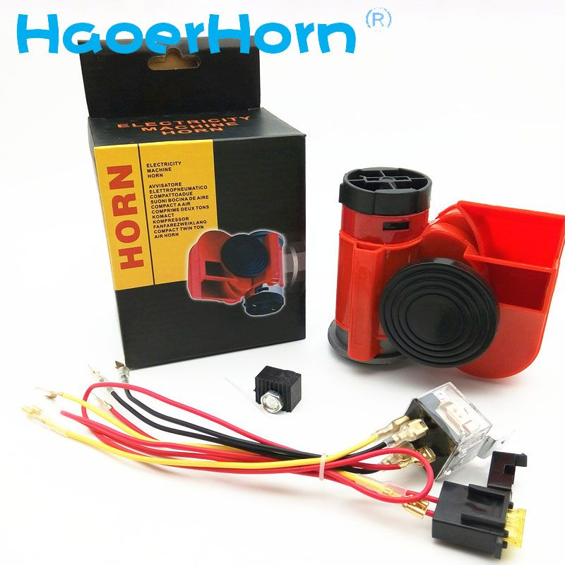 GZHAOER 12V 136db Air Horn Snail Compact For Car Truck Van Vehicle <font><b>Motorcycle</b></font> Boat Bike Newv free shipping