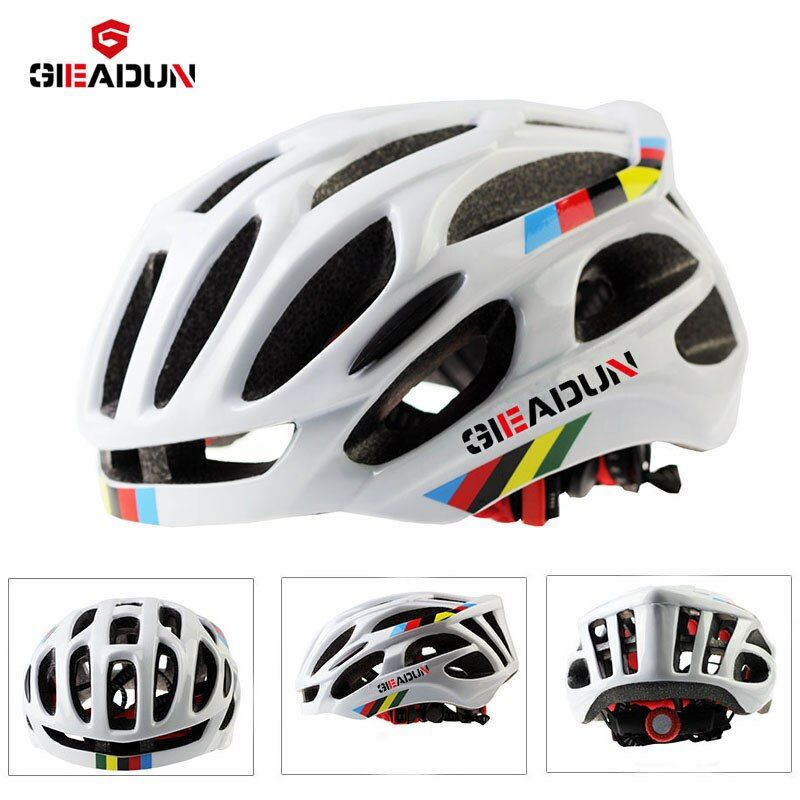 Casque réglable de sécurité, casque de vélo EPS protection cyclisme vtt VTT casques route ultra-léger 55-58 cm