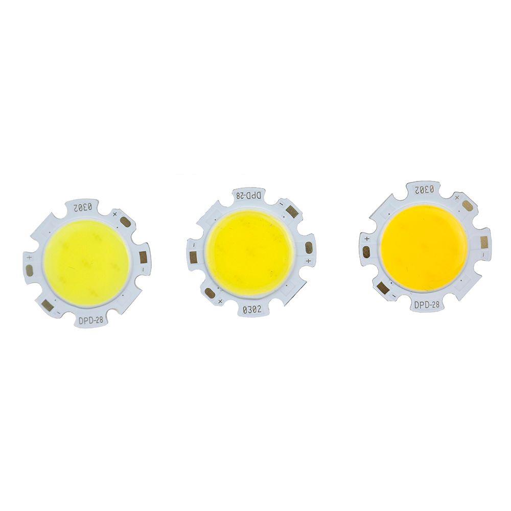 10-100 pcs LED COB Puce 28mm Carré Rond Éclairage Source 3 W 5 W 7 W 10 W 12 W pour Projecteur Spot Tube Lumière Plafond Lampe 300ma