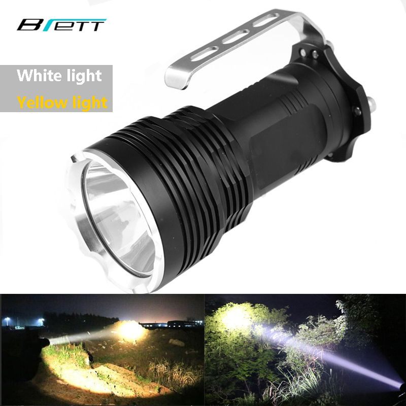 Lampe de poche LED XM-L2 blanc ou T6 jaune peut choisir lampe portable résistant aux chocs Camping aventure chasse projecteur LED