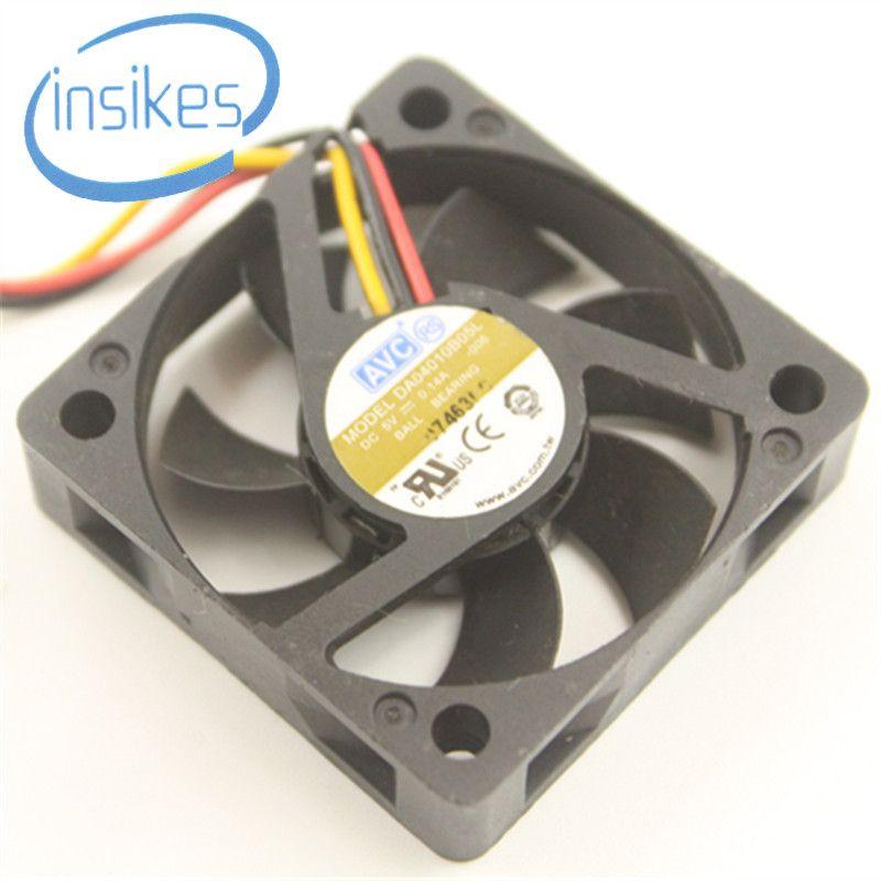 DHL Free Original DA04010B05L DC 5V 0.14A 0.7W 12025 120*120*25mm 6000RPM 3 Wire Double Ball Bearing Cooling Fan DA04010B05L-006