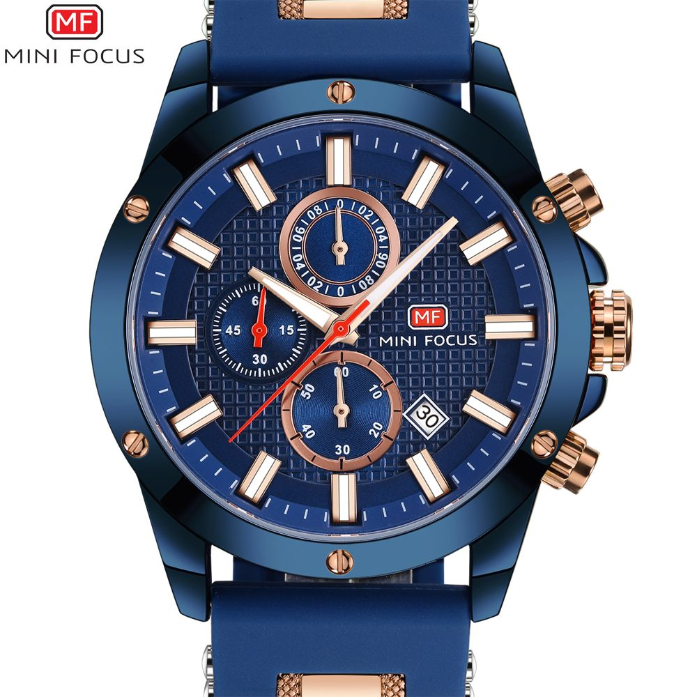 MINI FOCUS Watch Men Chronograph Quartz Clock Mens Watches Top Brand Luxury Casual Military Male Sport Watch Relogio Masculino
