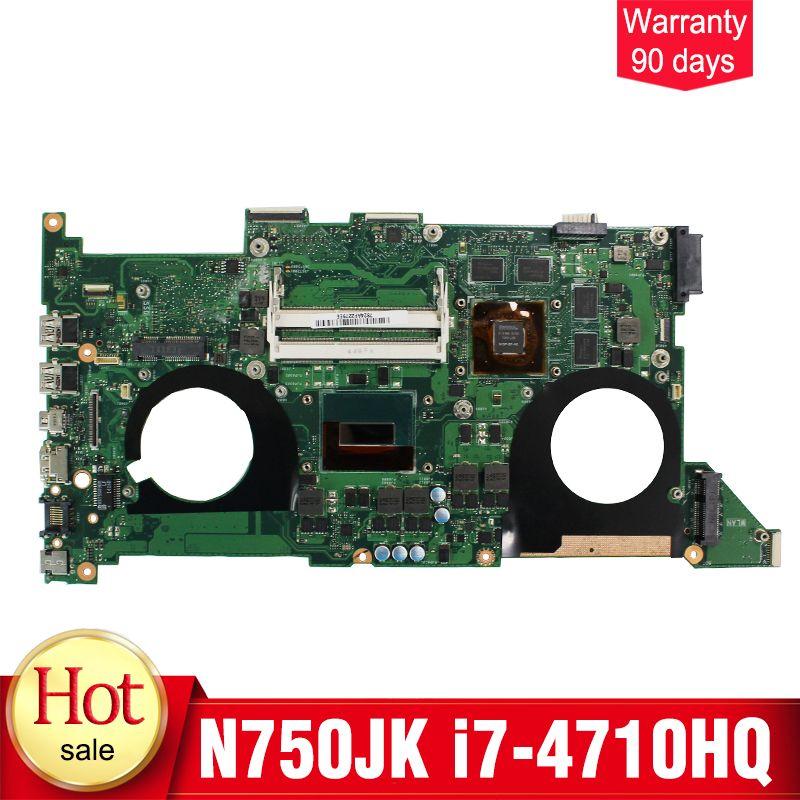 YTAI N750JK mainboard for ASUS N750JK N750JV laptop motherboard i7-4710HQ REV3.0 HM86 DDR3 GTX850M 2GB mainboard 100% tested