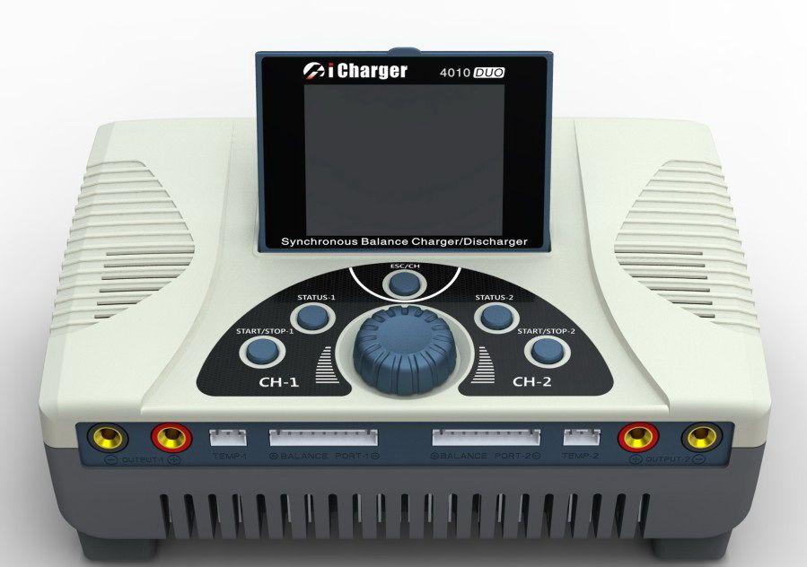 Aerops NEUE iCharger 4010 Duo 2000 watt 40A 10 s Dual Ports Balance Dual Port Lipo Lebensdauer der Batterie Ladegerät DC NIB