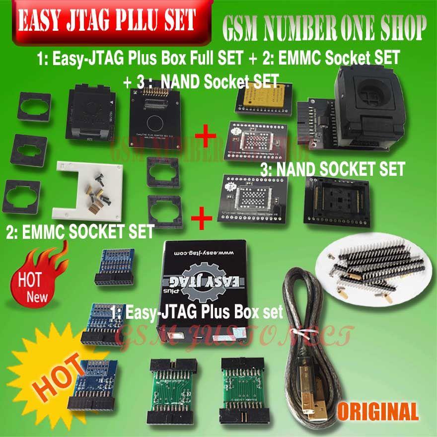 Original Neue version Vollen satz Einfach Jtag plus box Einfach-Jtag plus box + EMMC buchse + NAND buchse