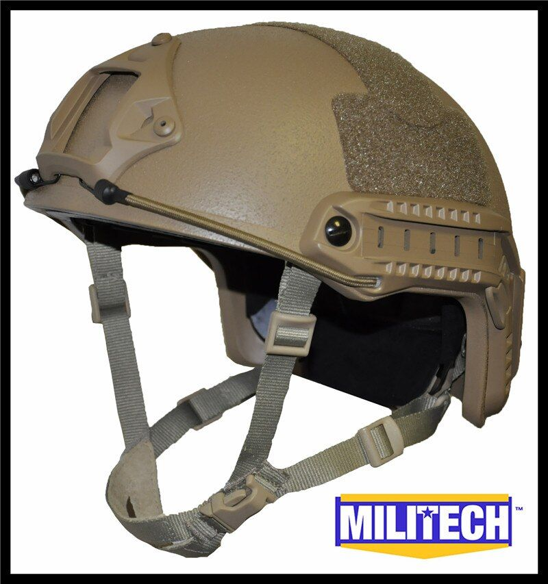 ISO Certified MILITECH CB OCC Dial NIJ Level IIIA 3A FAST High Cut Bulletproof Aramid Ballistic Helmet With 5 Years Warranty