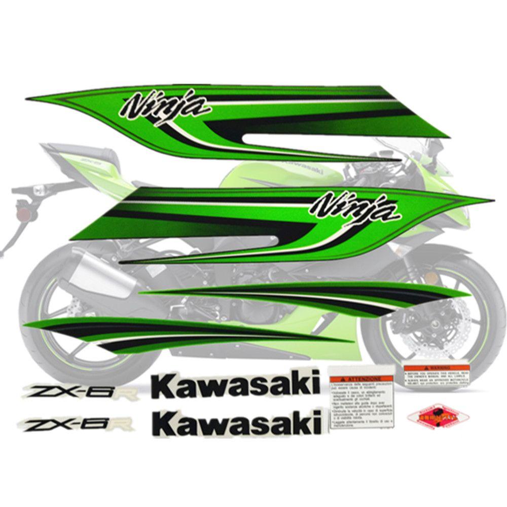Motorrad Für Kawasaki NinjaZX6R 09-11 Ninja ZX 6R 2009-2011 ZX6R Aufkleber Full Kit Applique Hohe Qualität gesamte Fahrzeug Aufkleber