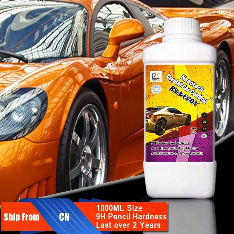 Rising Star RS-A-CC01 9H Liquid Glass Ceramic Coating Nano Hydrophobic Car Paint Care Nanotehc Crystal Car Coating 1000ml Kit