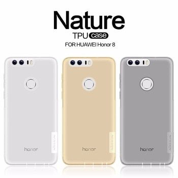 Huawei Honneur 8 cas TPU Transparent étui souple pour Huawei Honor 8 NILLKIN Nature Série De Luxe de couverture arrière avec vendue au détail paquet