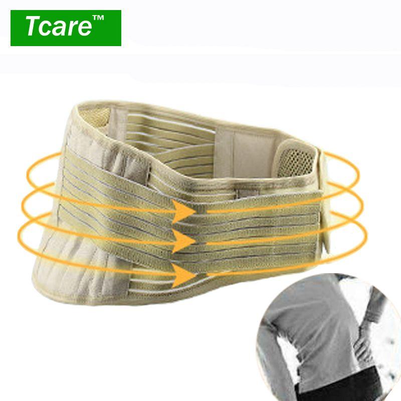 Tcare 1 pièces Tourmaline réglable auto-chauffant soulagement de la douleur inférieure thérapie magnétique taille soutien ceinture orthèse lombaire soins de santé