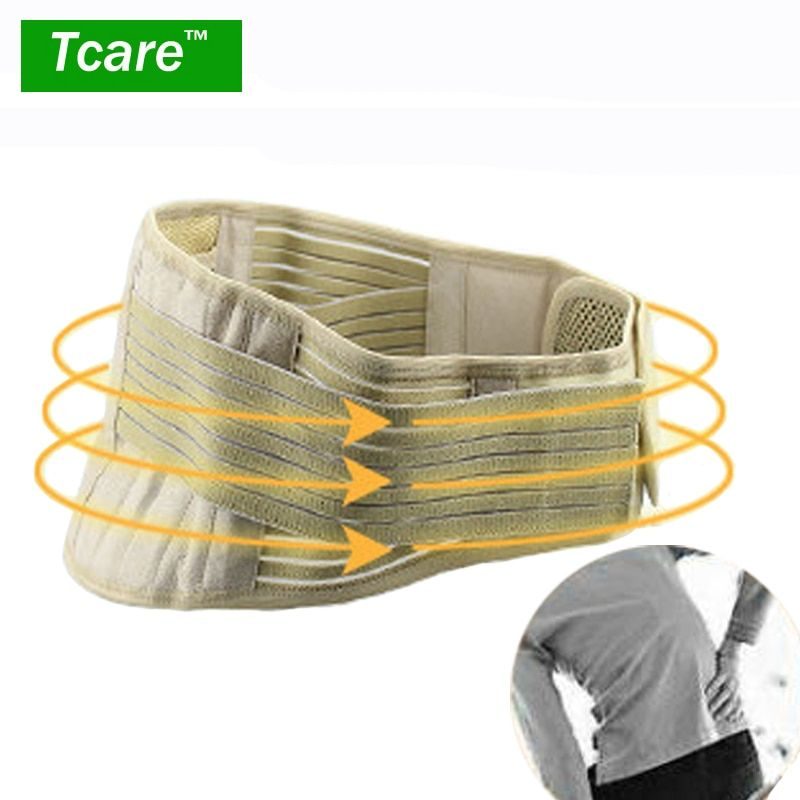 Tcare <font><b>1Pcs</b></font> Tourmaline Adjustable Self-heating Lower Pain Relief Magnetic Therapy Waist Support Belt Brace Lumbar Health Care