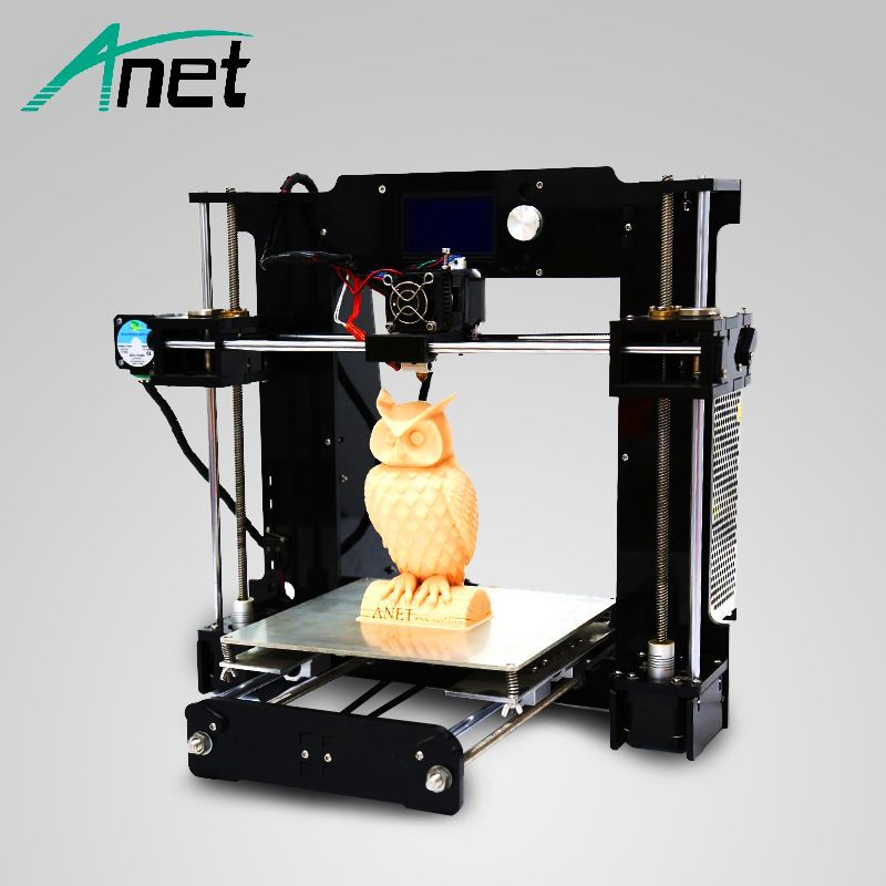 Anet A6 3D Printer Upgraded High Precision High Quality Easy Assembly Prusa i3 Reprap Free Filament Kit 16GB SD Card LCD Screen