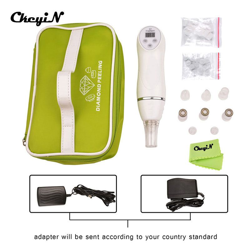 Portable 100-240V Multifunction Diamond Peeling Facial Spa Device Anti-aging Skin Peeling Dermabrasion Device Face Care Machine