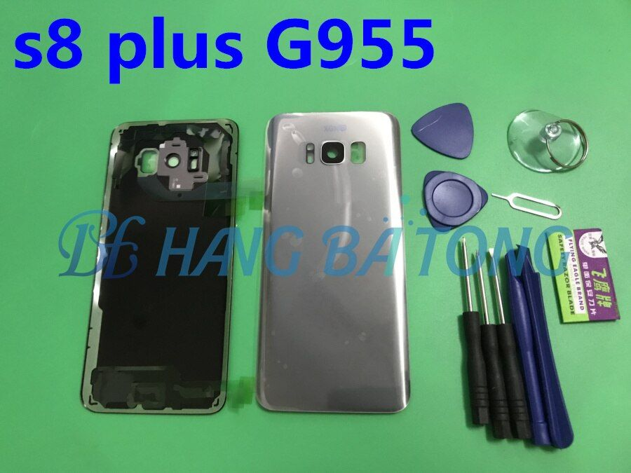 Replacement Original Rear Panel Battery Glass Back Door Cover with Rear camera glass For Samsung Galaxy s8+edge plus G955 G955F