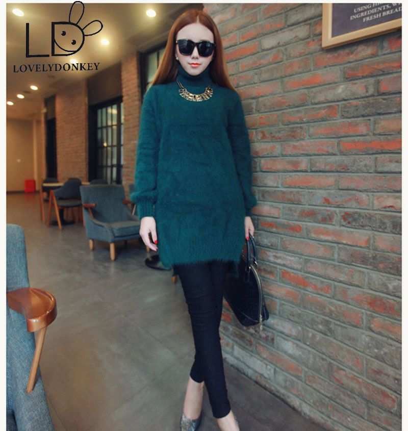 Lovelydonkeygenuine норки кашемировый свитер женские длинные пуловеры трикотажные jupmer настроить цвет Бесплатная shippingm704
