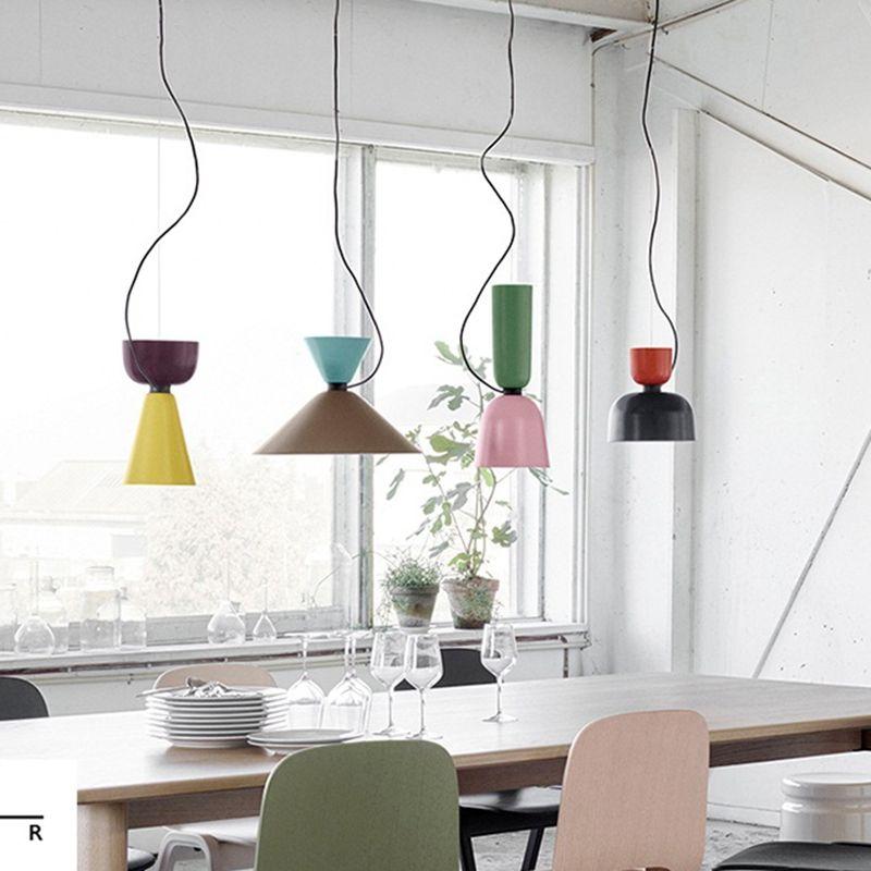 LukLoy Modern Pendant Lights Lamp, Kitchen Island Dining Living Room Shop Decoration, Colorful Pendant Lights Kitchen Light