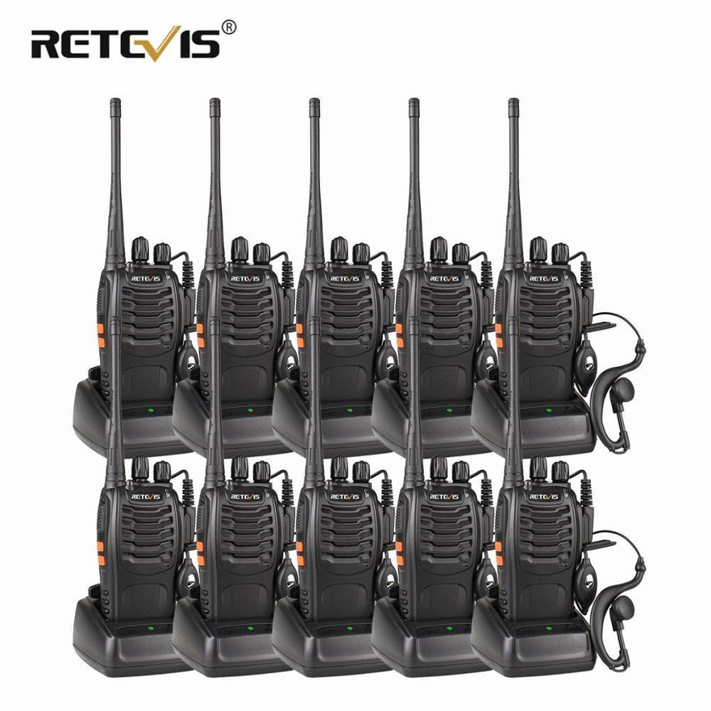 10 pièces Portable Radio Bidirectionnelle Talkie-walkie Retevis H777 Hôtel/Restaurant Radio 3 W UHF Lampe De Poche USB Charge Talkies-walkies Ensemble